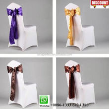 Foshan Guangzhou Quality gold chair sashes for banquet chair cover