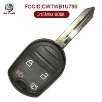 AK018021 Car key for Ford Edge 4 Button 315Mhz 4d63 CWTWB1U793