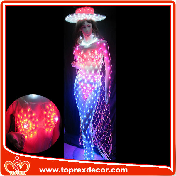 Unique LED lighting clothing halloween decoration