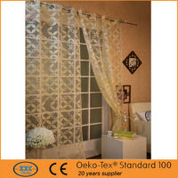 popular polyester burn out sheer latest designs of curtains