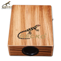 Gecko C-68Z factory supply Travelling cajon, Portable zebra wooden cajon drum box percussion instrument