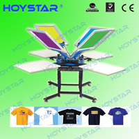 4 color 4 stations carrossel manual para serigrafia for t-shirts