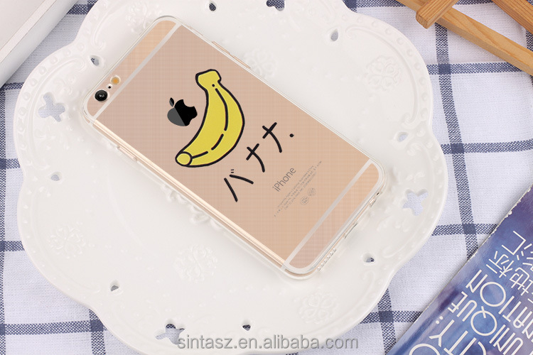 Creative fruit case , engrave 3D printing fruit patterns transparent TPU clear shield fruit case cover for iPhone 6s case