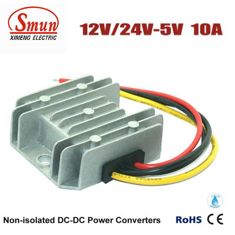 Waterproof DC Buck Module 12V 24V to 5V 10A DC to DC Converter 50W LED Power Supply