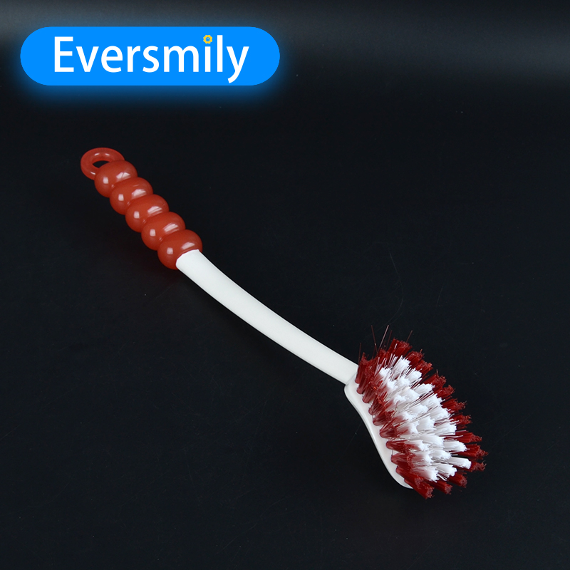 Household cheap 110g plastic cleaning curved toilet brush for OEM