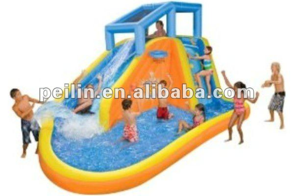 2012 super cool inflatable water slide with big pool