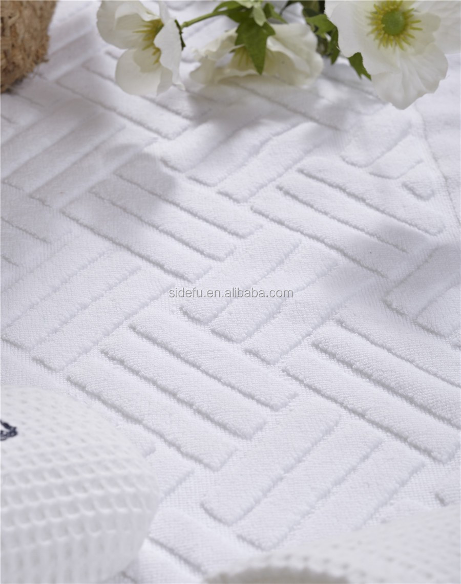 Good Quality Custom Soft Plain White100 % Cotton Hotel bath towels for bathroom