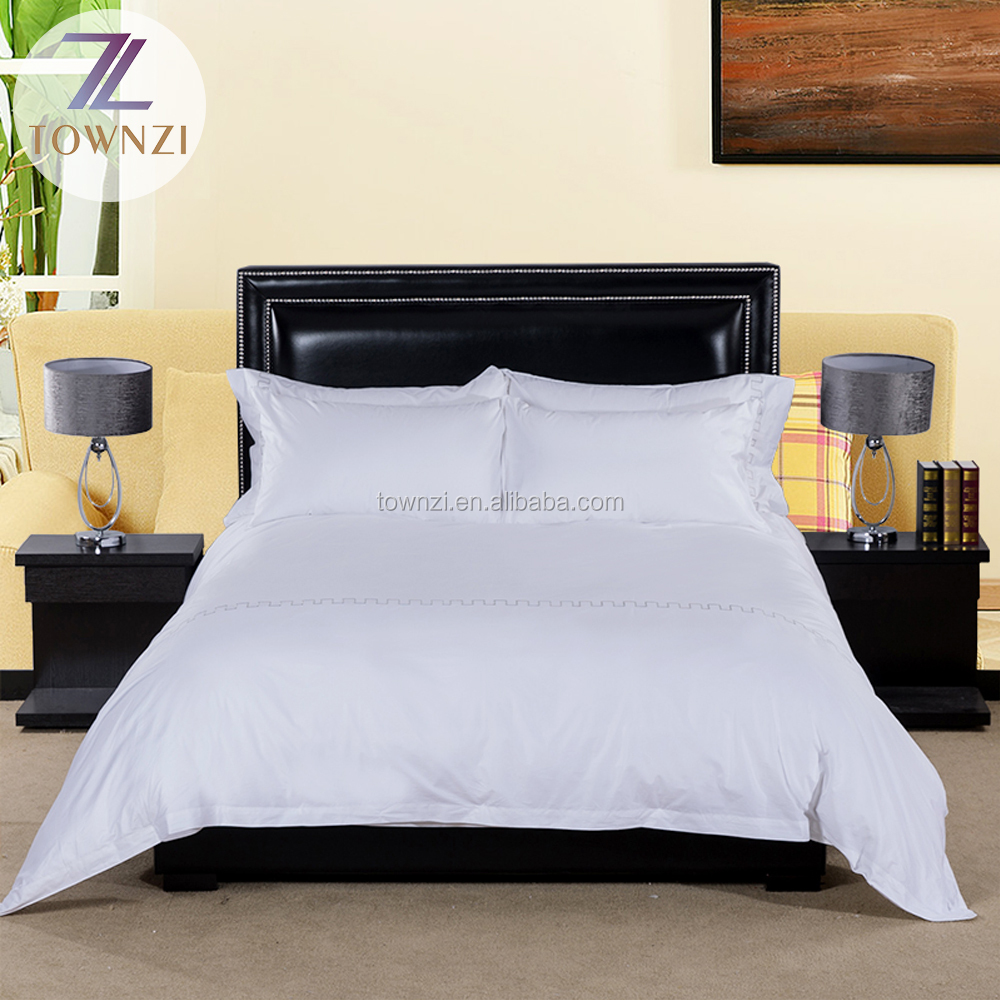 Fashion Cotton Bedding Set Embroidered Luxury Hotel Supplies 5 Star Hotel Bed Sheet Duvet Cover Pillowcase
