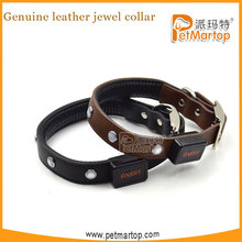 2016 Wholesale leather dog collars TZ-PET8100 Leather pet products LED from China supplier