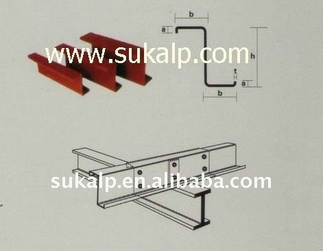 Steel roof purlins