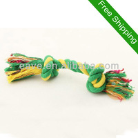 Wholesale Knot Double Cotton Rope Cleaning Teeth Pet Toys Cats Dogs Pet Products Factory Produce Fast Shipping