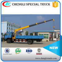 5 tons loading 3 ams dongfeng 4*2 truck with crane