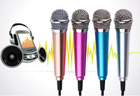 2016 New Product good quantity Popular Funny Mobile Phone Karaoke Mini Microphone ,mobile accessories