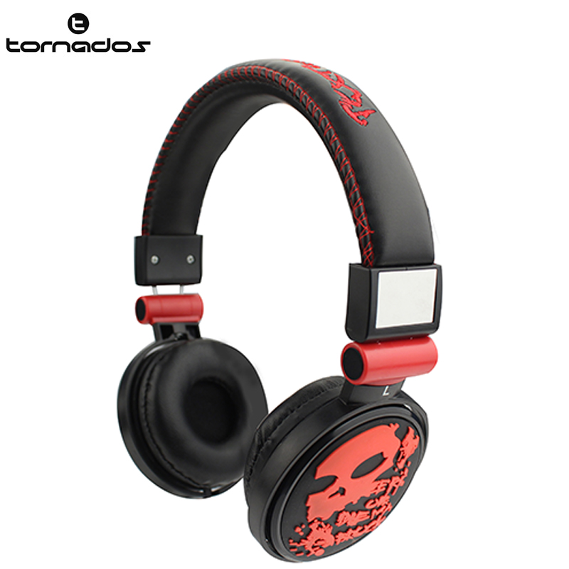 Most popular 2016 street style cool skull headphone