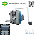 Advanced configuration facial tissue folding machinery