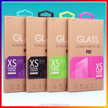 CMYK printing custom tempered glass protector paper packaging boxes for glass screen protector