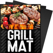 China supplier fire retardant bbq grill mat with FDA GSG LEGB certificate 2-Pack of BBQ Grilling Mats