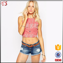 OEM summer korean clothes ladies tops latest design pictures of girls cotton tops