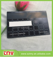 Stainless steel etched text and number metal card