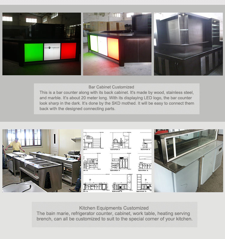 Stainless Steel Heavy Duty CE Certificate CAD Layout 3D Design Commercial Kitchen