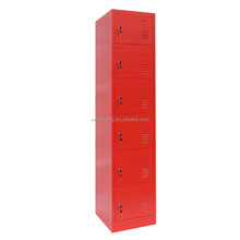 China WLS 6 drawer steel office hanging file cabinet with lock for sale /red color cabinet
