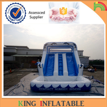 2017 Wavy Commercial Jumbo Water Slide Inflatable With Pool Made Of Pvc Tarpaulin From Guangzhou China