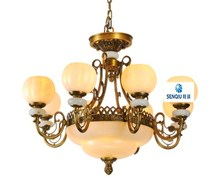 Europe type droplight sitting room bedroom study lamp all import copper lamp luxury villa atmospheric marble droplight