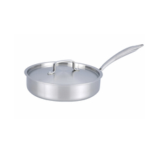 Outstanding Quality Assurance Customers' Requirement deep stainless steel cooking pot oem 3 ply cookware saute pan