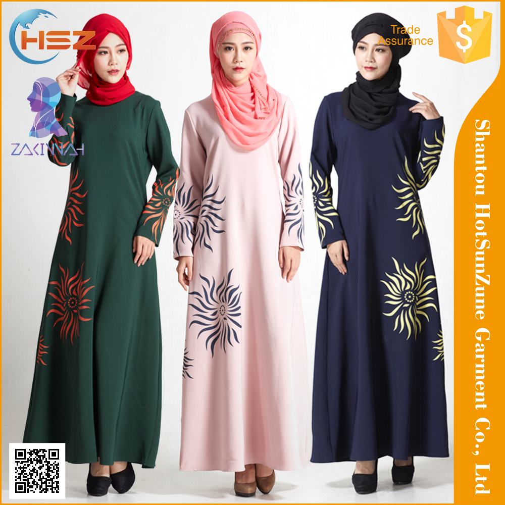 Zakiyyah Md832 New Design Crazy Selling Winter Dresses Women Fashion Baju Arab Muslim Abaya