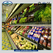 high quality fruit and vegetable display cooler in grocery