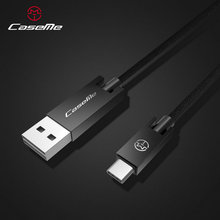 CaseMe Hot Selling 2.1A Usb Cable replacement type c fast charging