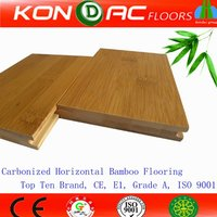 Moso Bamboo Flooring. CE certified Pure Green Horizontal Carbonized Solid Bamboo Flooring