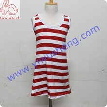 2017 fashionable design wholesale new style 100% cotton girls tank top