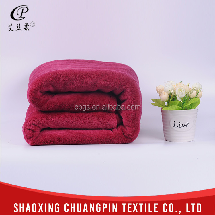 Promotion 100% polyester coral cheap bed blankets
