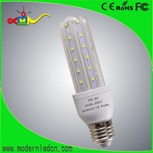 U Shape Energy Saving bulb corn light 360 Degree E27 3U 7W LED Corn Bulb