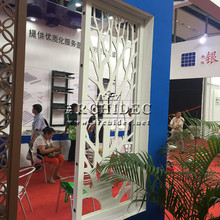tree shape Interior wall decorative MDF grille screen panel for partition wall