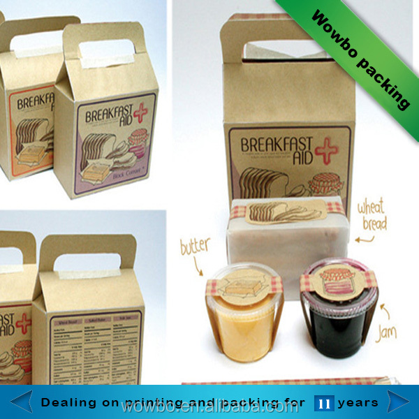eco friendly biodegradable kraft paper bakery box packaging food containers