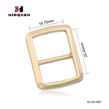 Wholesale popular style 5/8 inch metal material adjustable shoulder strap buckles with light gold