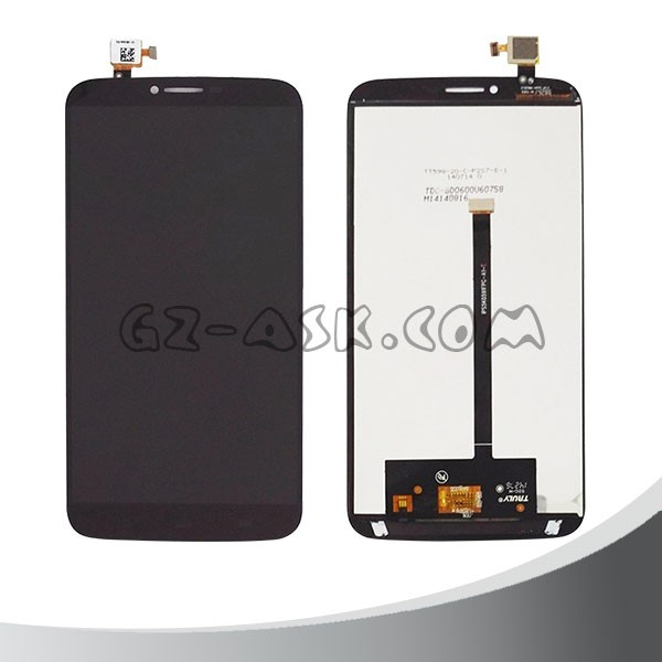 for alcatel One Touch 2 8030 OT-8030B 8030Y lcd screen display touch screen digitizer complete Black for android