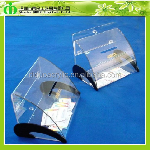 DDO-0003 Creativity Clear Acrylic Business Card Collection Box for Exhibition,Acrylic Name Card Collection Box,Business Card Box