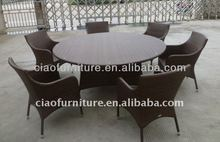foshan large size outdoor furniture rattan round table and chairs C-TC-231