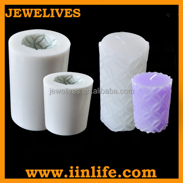 2015 India diwali hot selling pattern silicone candle making mould