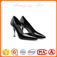 Wedding evening crystal rainstone private label women pump shoes fancy design plus size lady office shoes