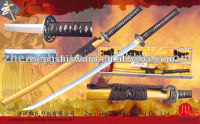 Handmade quality clay-tempered samurai sword crafts woth specail hamon