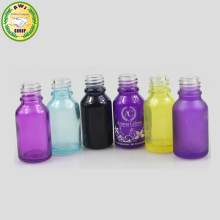 wholesale15ml frosted purple glass dropper bottle/30ml glass dropper bottles frost /amber frosted glass bottle 30ml