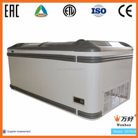 aht type freezing chest island chiller show case for frozen meat