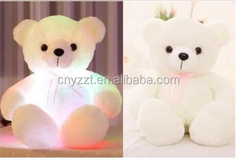LED Light up Teddy Bear Pillow Soft Auto Colorful high quality