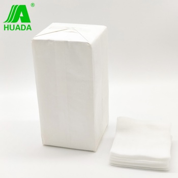 Different sizes of medical absorbent gauze sterile