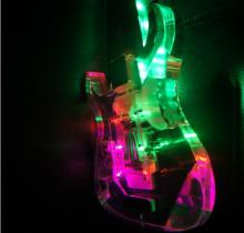 High grade LED light acrylic organic glass Rlp electric guitar