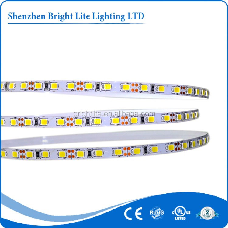 High brightness 5mm led strip White color 2835 12v IP20 120leds UL certificated aluminium profile led strip